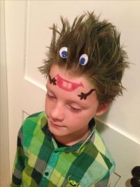 Monster head .... Crazy hair day at school !!! | hair ...