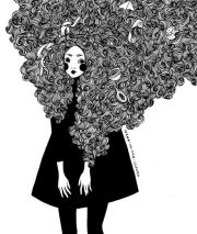 lots of curly hair portraits