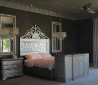 sexy black gray and silver walls and ceiling with glitter ...