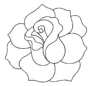 Rose Line Quilting Pattern Could use for appliqué as well