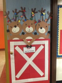 Reindeer door | Door Decor | Pinterest | Reindeer and Doors