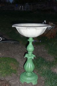Homemade bird baths, Old lamps and Light covers on Pinterest