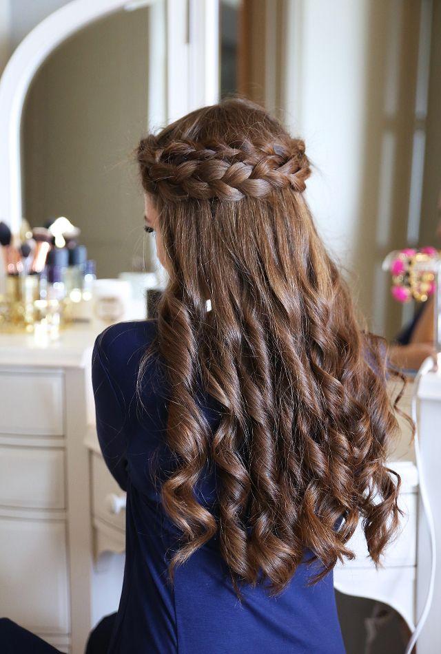 Easy Crown Braid Tutorial (Southern Curls & Pearls