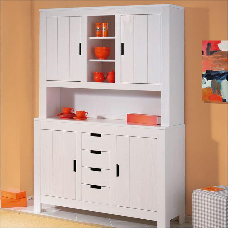 buffet auchan achat buffet vaisselier en pin berthold pas. Black Bedroom Furniture Sets. Home Design Ideas