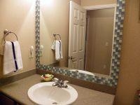 Tile Framed Bathroom Mirror Tutorial | Home stuff ...