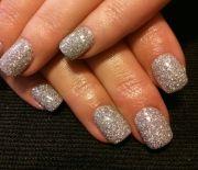 silver glitter gel nails nail