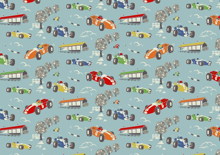 Cath Kidston Vintage Racing Car Wallpaper 149 Best Images About Our Print Library On Pinterest