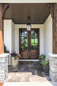 Door Entryway & Wood Grain Fiberglass Entry Door