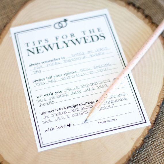 25 best ideas about Wedding advice cards on Pinterest