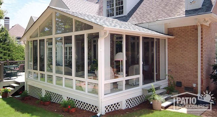 Plans For Building A Screen Room On A Deck White