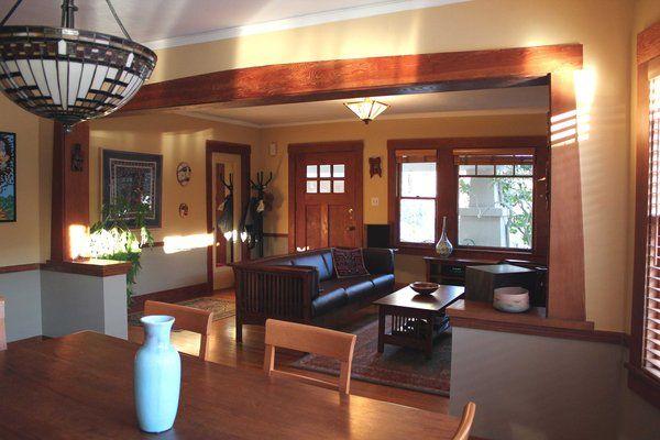 Craftsman Style Bungalow Homes Decor Interior Decorating Of
