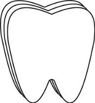 Tooth Small Single Color Creative Cut-Out for Bulletin