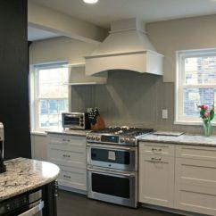Gray Kitchen Floor Lighting For Kitchens Bellingham Cambria With Subway Tile Backsplash ...