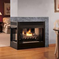 multifunction double sided ventless gas fireplace smell ...