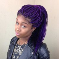 25+ best ideas about Purple Box Braids on Pinterest ...