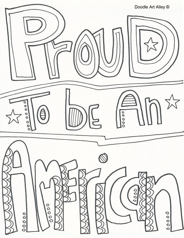 God Bless America Coloring Pages