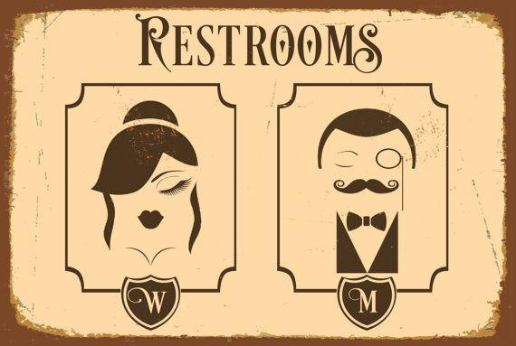 german bathroom door signs 25+ best ideas about Restroom signs on Pinterest | Half