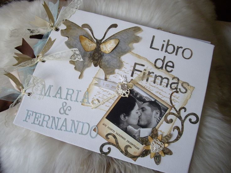 LIBROS DE FIRMAS PARA BODAS de LAS COSITAS DE YOLA por