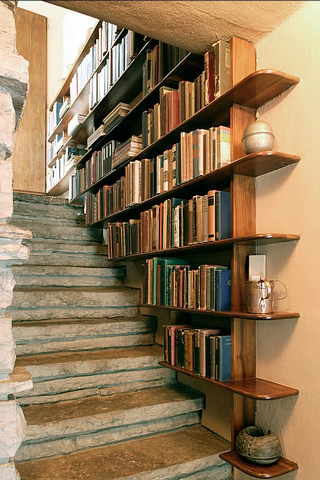 Bookcase Stairs Staircase Bookshelf - Diy Bookshelves : 18 Creative Ideas