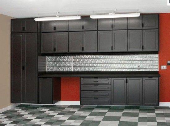 Black Gray And Red Garage Garage Pinterest Grey