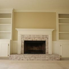 Bob Furniture Living Room Help Me Decorate My Walls White Brick Fireplace | Pink With ...