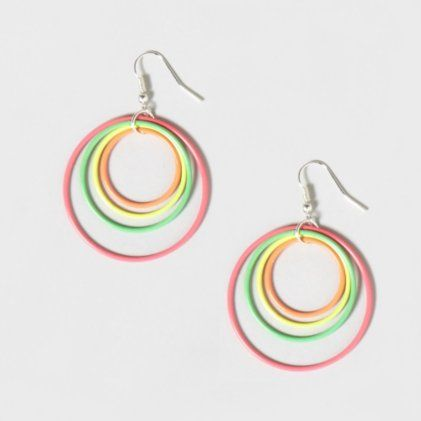 Neon Hoop Earrings $6.50 claires.com