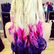 galaxy dip dyed hair