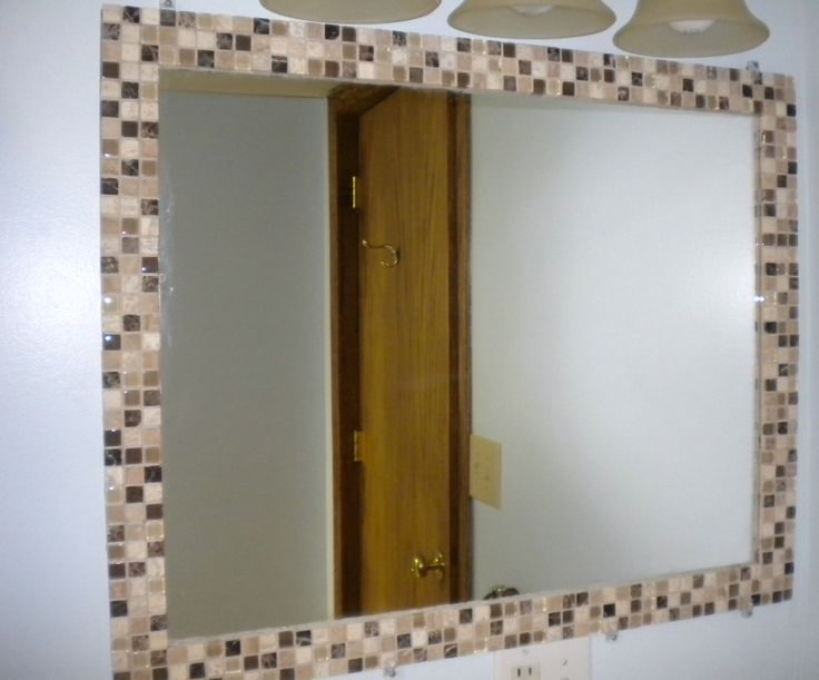 DIY mosaic tile mirror border