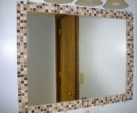 DIY mosaic tile mirror border | kid's bathroom | Pinterest ...