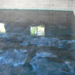 Refinishing Kitchen Countertops Outside Designs Blue Concrete Stained Floor | Me Likey Pinterest ...