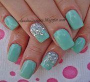 mint cream nails- love idea