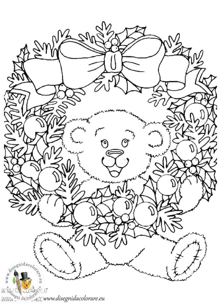 227 best images about Christmas Coloring Pages on
