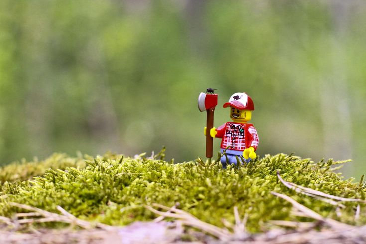 Funny Lego Lumberjack Wallpaper Lego Minifigures Photo