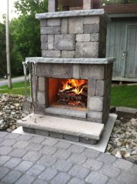 25+ best ideas about Diy outdoor fireplace on Pinterest