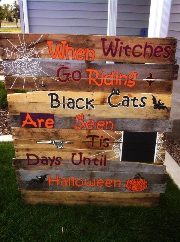 Best 25+ Halloween pallet ideas on Pinterest