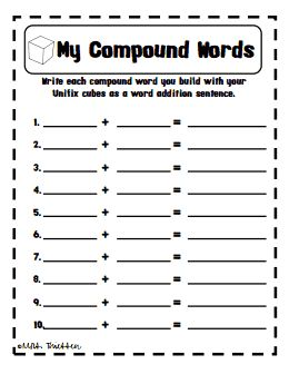 1000+ images about compound words on Pinterest