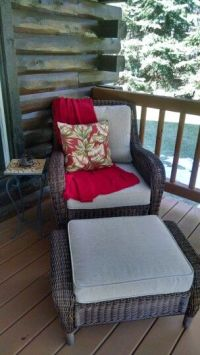 Comfy reading/meditation chair on front porch. Rocking ...