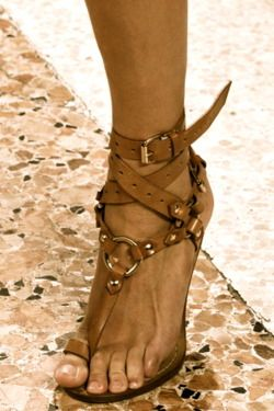 Leather sandals are a must have