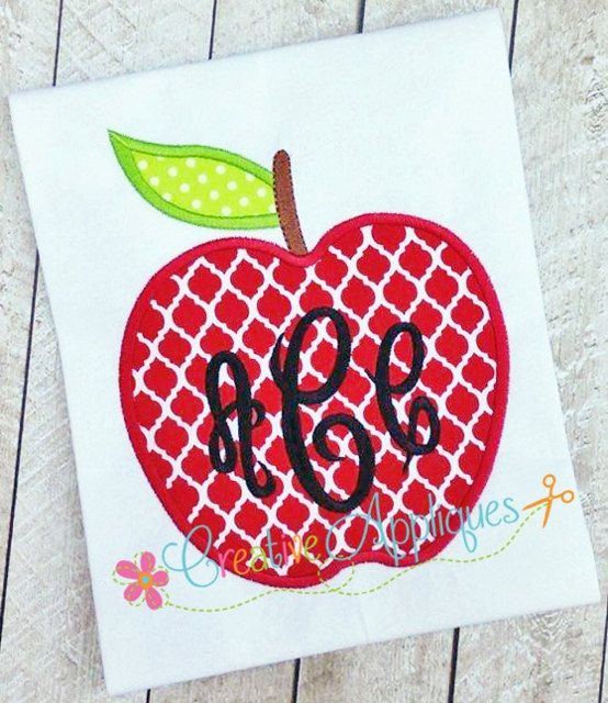 monogram applique font