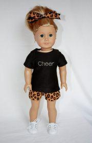 "american girl 18"" doll cheer practice"