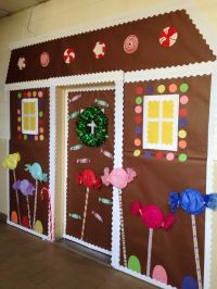 Christmas Door Decorating Ideas Gingerbread House ...