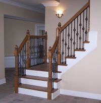 Adorn Staircase Using Beautiful Iron Stair Railing ...