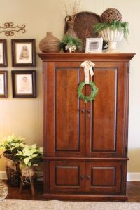 10+ ideas about Cabinet Top Decorating on Pinterest | Farm ...