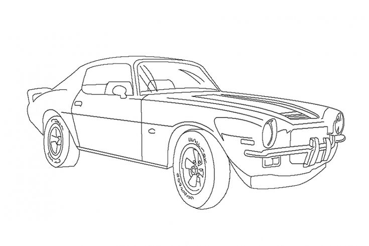 Olds classic Camaro coloring pages to print for free