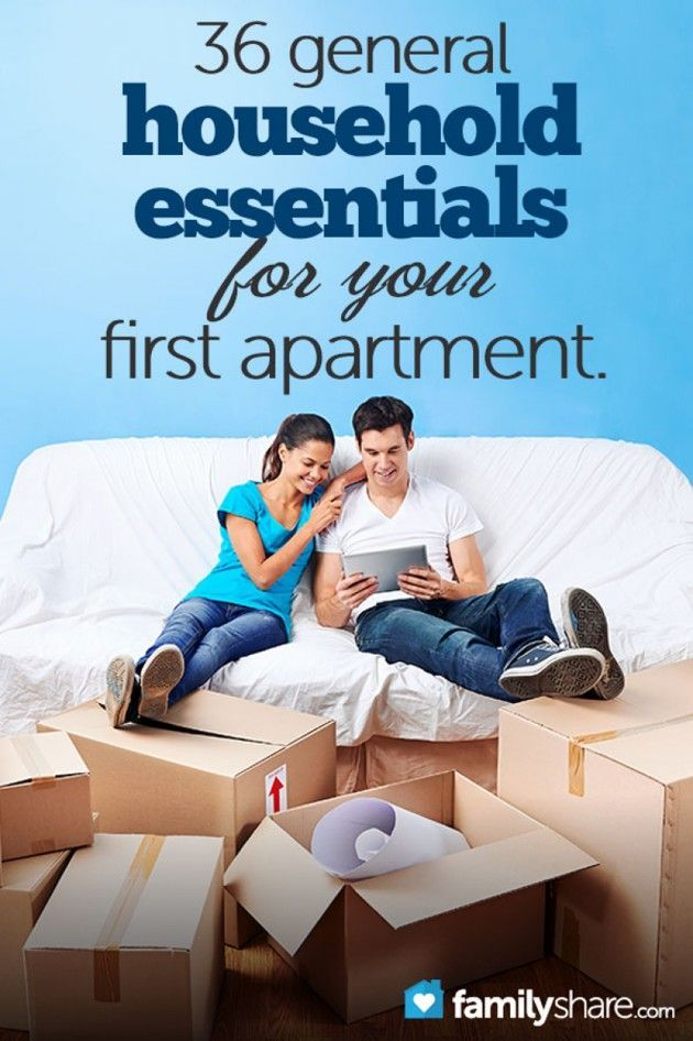 36 general household essentials for your first apartment There were several things on this list