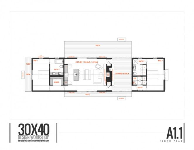 Longhouse Dogtrot 30X40 Design Workshop Plans Pinterest