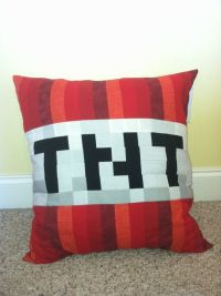 Minecraft Inspired TNT Throw Pillow by CraftyCreepers on ...