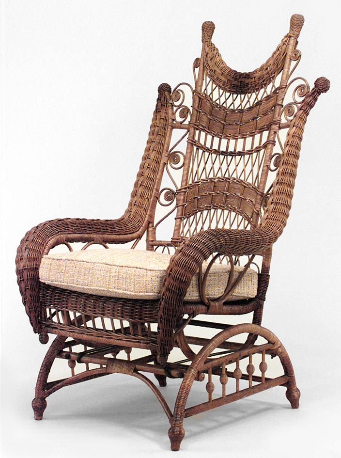 Antique Wicker Rocking Chair  WoodWorking Projects  Plans