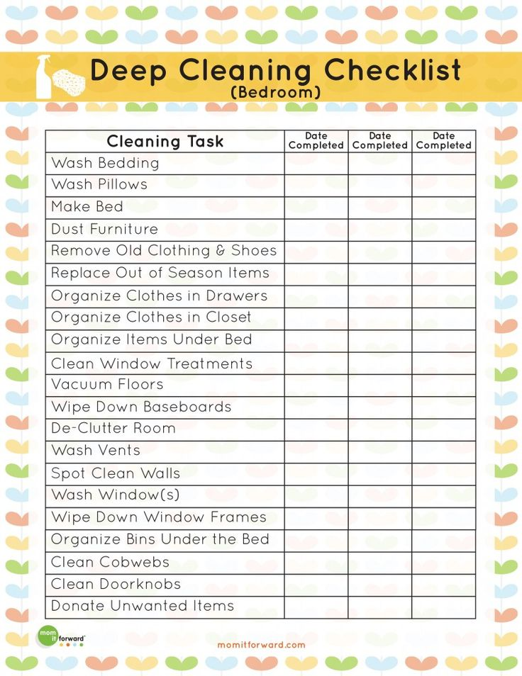 Bedroom Deep Cleaning Checklist - Bedroom Style Ideas