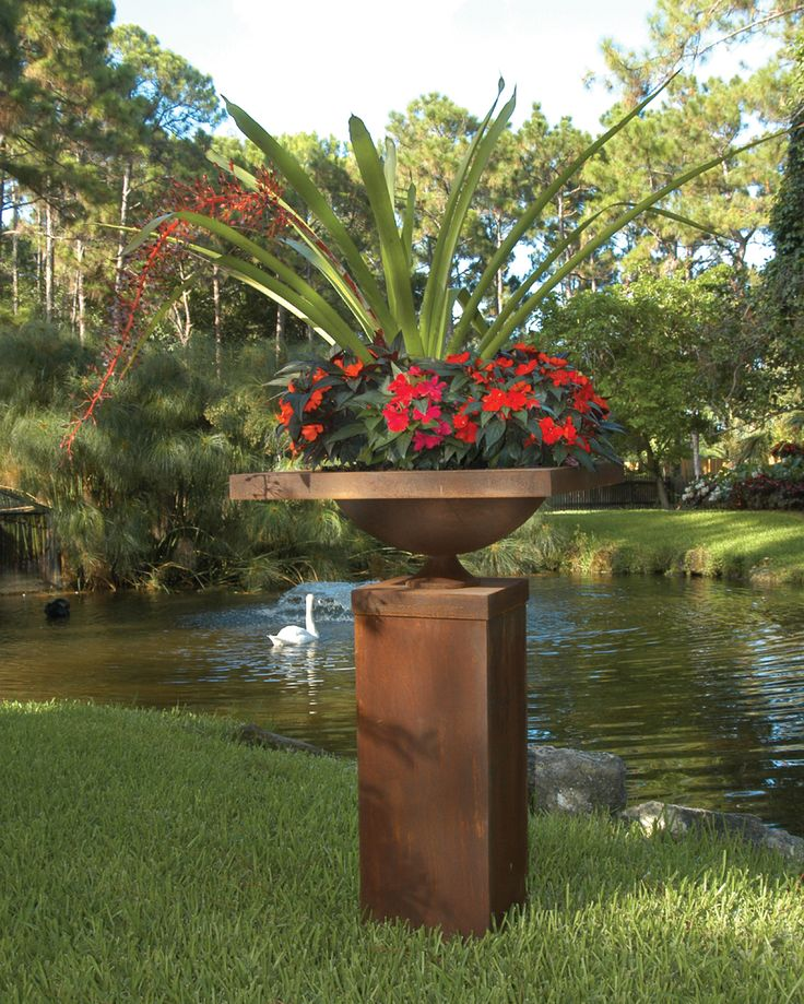 Bromeliads Form The Centerpiece (one Of My Favorite